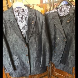 Other - Tailored Blue Denim 3pc Suit fully lined
